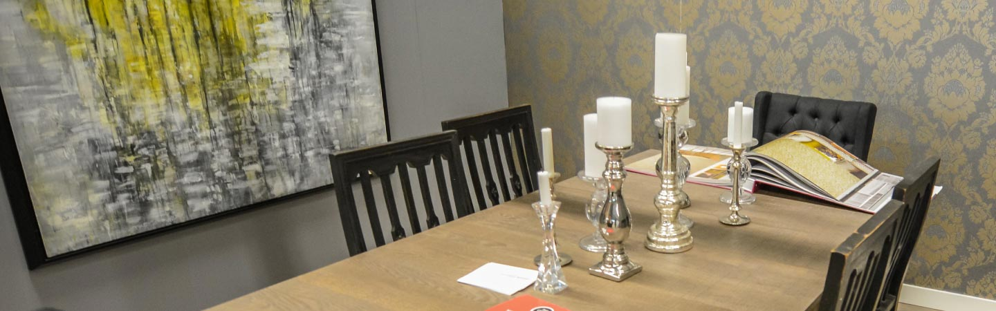 Dining Room Table  with Candles
