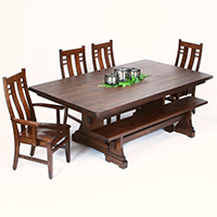 Olde Annville Amish-Made Dining Set Table