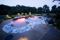 Crystal Clear Signature Pools Feature Garden Photo